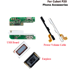 Cubot P20 USB Board High Quality Replacement Parts For Cubot P20 Power Volme Cable Earpiece Mobile Phone Accessories