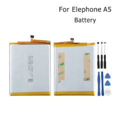 Elephone A5 Battery 4000mAh 100% New Replacement Accessory Accumulators For Elephone A5 Mobile Phone With Tools