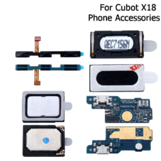 Cubot X18 Button Flex Cable Power+Volume Button Speaker Earpiece USB plug Charge Board Loud Speaker For Cubot X18
