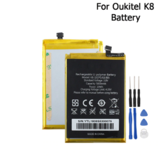 Oukitel K8 Battery 5000mAh High Capacity Long Standby Time With Tools For Oukitel K8 Cell Phone Accessory In Stock