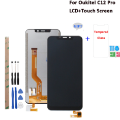 Oukitel C12 Pro LCD Display And Touch Screen Replacement For Oukitel C12 LCD With Tools 6.18