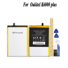 Oukitel K6000 Plus 6080mAh Battery High Quality Large Capacity Batterie Accumulator AKKU+Tools