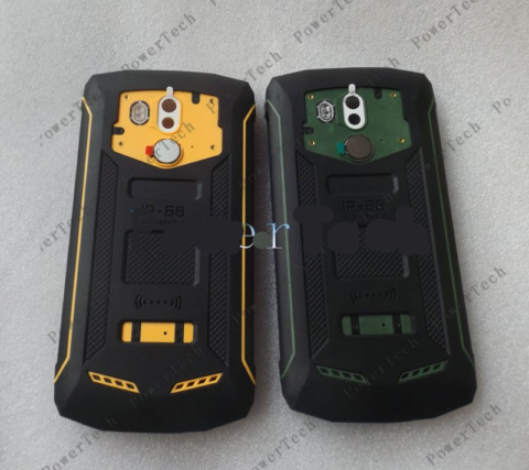 Blackview BV5800 Pro BV5800 Battery Cover Shell Case with Microphone and Fingerprint Sensor Flex Cable